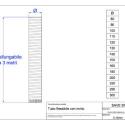 disegno-tecnico-save-air-tubo-flessibile-alluminio