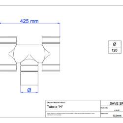 disegno-tecnico-save-air-tubo-h-zincato